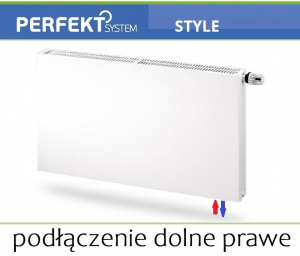 GRZEJNIK PERFEKT STYLE CV11 500x1400 Typ PLAN V 11 Prawy