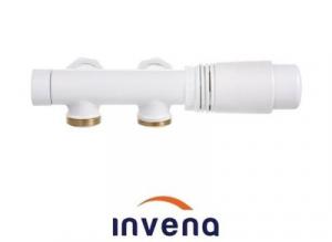 Invena zawór grzejnika odwracalny duoplex biały