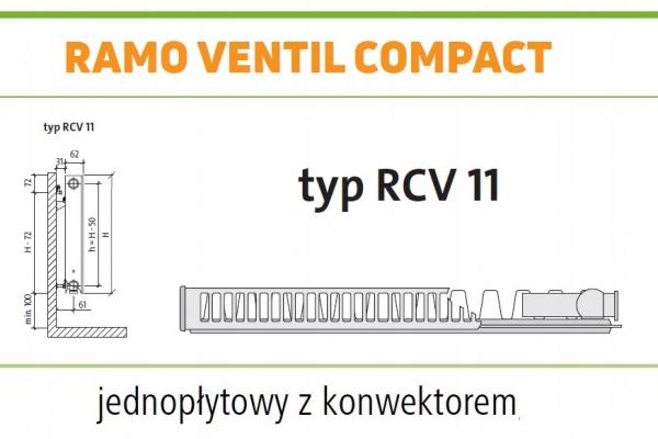 PURMO RAMO RCV11 400x1800 V 11 Prawy ANTRACYT
