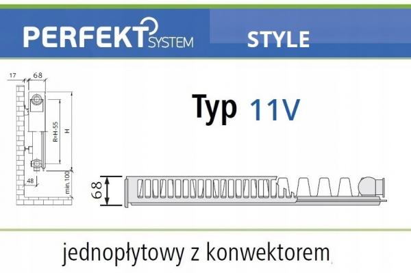 PERFEKT STYLE CV11 400x900 Typ PLAN V 11 Prawy
