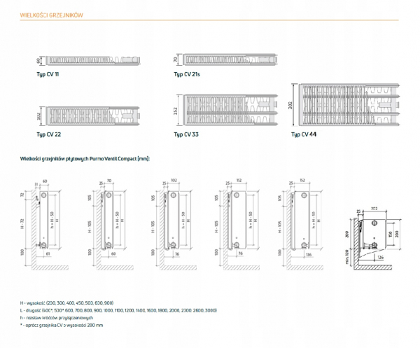 PURMO CV11 450x600 V 11 DOLNY PRAWY ANTRACYT